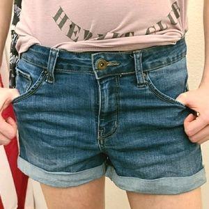 Butt, I Love You Wax Jean Shorts